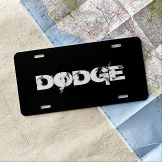 Placa de encargo del coche - DODGE