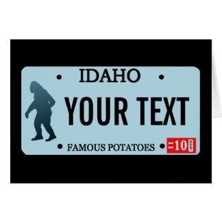 Placa de Idaho Sasquatch Felicitacion