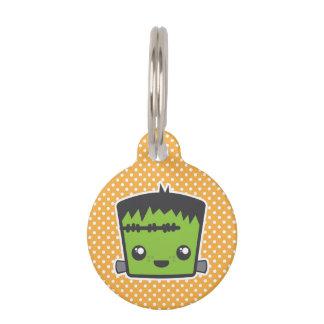 Placa de identificación de Kawaii Frankenstein