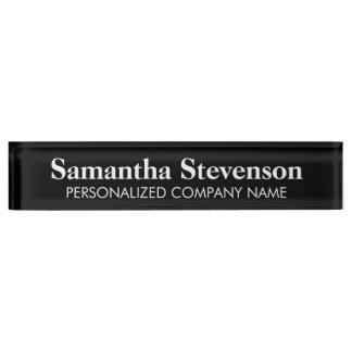 Placa de identificación personalizada del escritor