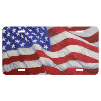 Placa de la bandera americana