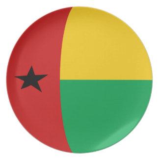 Placa de la bandera de Guinea-Bissau Fisheye Platos Para Fiestas