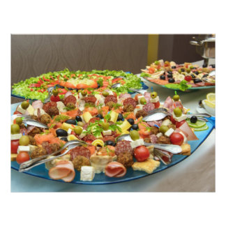 Placa de la comida tarjetones