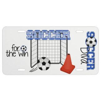 Placa de la diva del fútbol