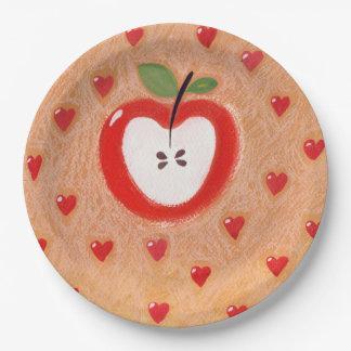 Placa de la empanada de Apple Plato De Papel