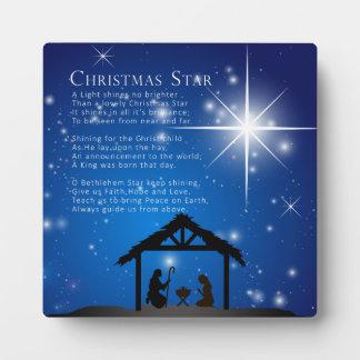 Placa de la estrella del navidad