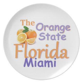 Placa de la FLORIDA Platos Para Fiestas
