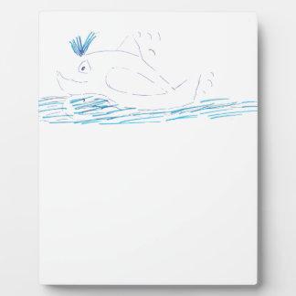 Placa de la foto de la ballena de Wally