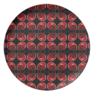 Placa de la mariquita plato de comida