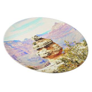 Placa de la melamina de la roca del Gran Cañón Plato