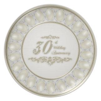 Placa de la melamina del aniversario de boda de la plato