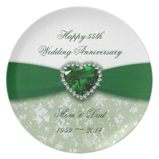 Placa de la melamina del aniversario de boda del plato