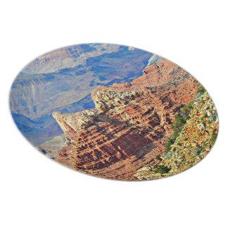 Placa de la melamina del paisaje del Gran Cañón Plato