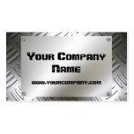 Placa de la mirada del metal con las tarjetas de v plantillas de tarjetas personales