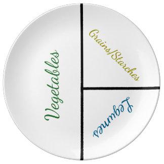 Placa de la pérdida del peso máximo (porcelana) plato de porcelana