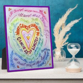 Placa de la pintura del arte del corazón del arco