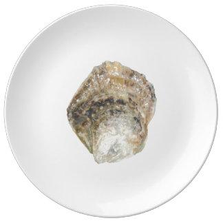 Placa de la porcelana de la ostra - diseño B Plato De Porcelana