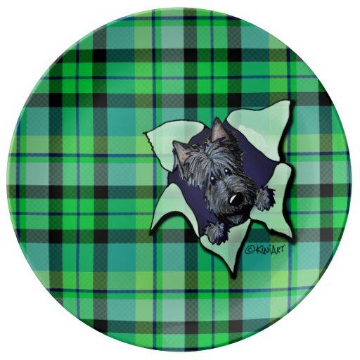 Placa de la porcelana de la RÁFAGA del perro del e Plato De Cerámica