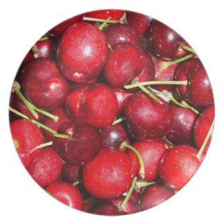 Placa de las cerezas plato