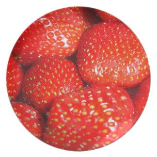 Placa de las fresas platos