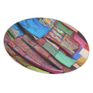 Placa de las telas de la moda platos para fiestas