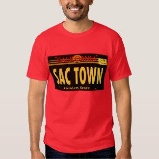 Placa de Lincense de la ciudad del saco-- Camiseta