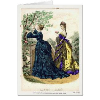 Placa de moda del Victorian Tarjeta