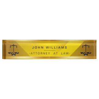 Placa De Nombre Abogado en la obra clásica legal de la escala del