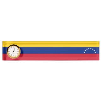 Placa De Nombre Bandera de Venezuela