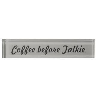 Placa De Nombre Café antes de la película hablada