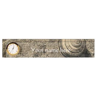 Placa De Nombre Caligrafía elegante del caracol