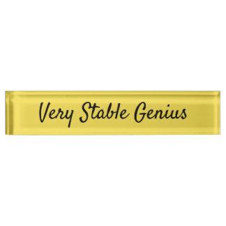 Placa De Nombre Genio muy estable