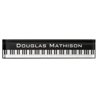 Placa De Nombre Llaves del piano
