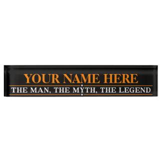 Placa De Nombre Nombre personalizado el hombre el mito la leyenda