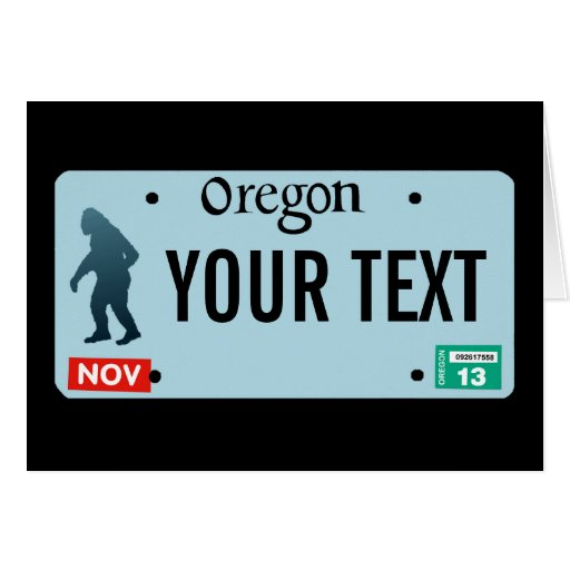 Placa de Oregon Sasquatch Tarjeton