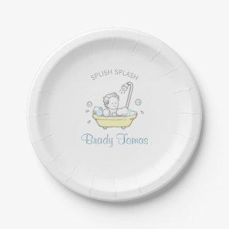 Placa de papel de la fiesta de bienvenida al bebé plato de papel