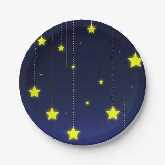 Placa de papel de la noche estrellada plato de papel