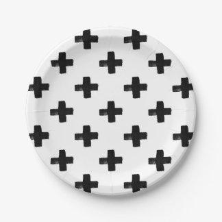 Placa de papel de las cruces peculiares plato de papel