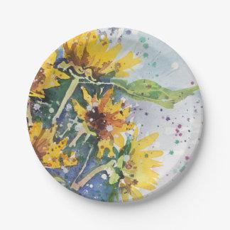 Placa de papel de Susan del ojo morado Plato De Papel