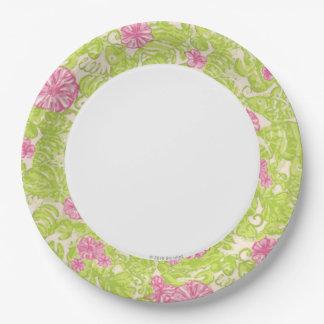 Placa de papel del flamenco plato de papel
