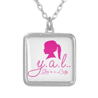 Placa de plata esterlina Y.A.L. Necklace Collar Plateado