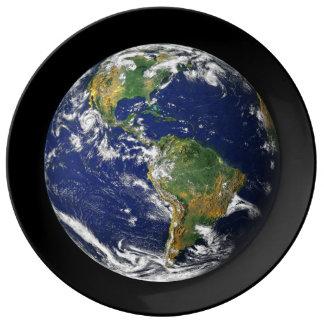 Placa de tierra del planeta plato de cerámica