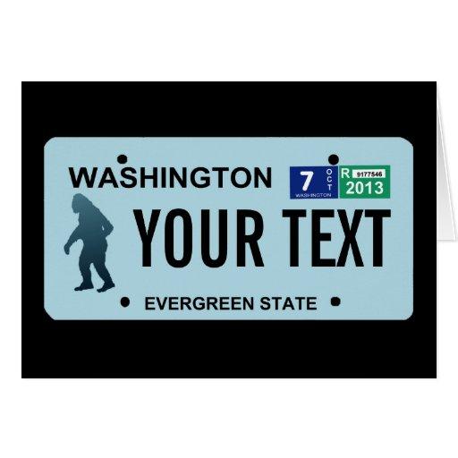 Placa de Washington Sasquatch Tarjeton