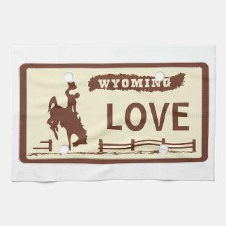 Placa de Wyoming Paño De Cocina