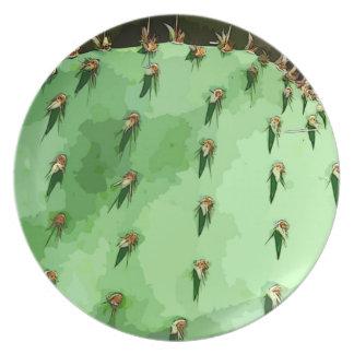 Placa decorativa de la melamina del higo chumbo plato