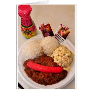Placa del almuerzo de la cremallera felicitacion