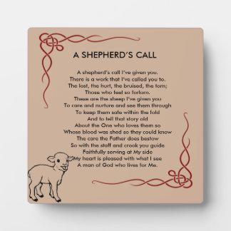 Placa del aprecio del pastor