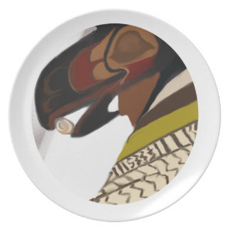 Placa del bailarín del cuervo plato