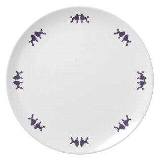 Placa del caniche plato para fiesta