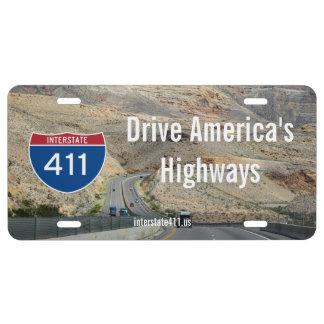 Placa del desierto de la autopista 411